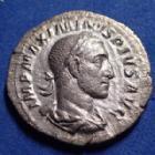 Photo numismatique  Monnaies Empire Romain Maximinus I Thrax, Maximin I le Thrace Denier, denar, denario, denarius MAXIMINUS I Thrax, MAXIMIN Ie le Thrace, denier Rome en 235, PM TR P PP, 20mm, 2,45 grms, RIC.1 TTB+