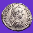 Photo numismatique  Monnaies Empire Romain CARACALLA Denarius, Denier, Denar, Denario CARACALLA Denarius Rome en 203, VIRTUS AVGG, 18mm, 3,60 grms, RIC.148a SPL