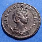 Photo numismatique  Monnaies Empire Romain MAGNIA URBICA Antoninien, antoninianus, antoniniane MAGNIA URBICA, antoninianus Lyon (Lugdunum) en 284, VENUS GENETRIX, 22mm, 3,65 grms, RIC.337 SUP Rare!