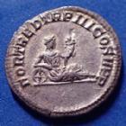 Photo numismatique  Monnaies Empire Romain GETA Denier, denar, denario, denarius GETA, denier Rome en 211, Fortuna allongé le coude sur une roue et tenant une corne d'abondance, 18mm, 2,73g, RIC.77 SUP R!