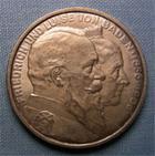 Photo numismatique  Monnaies Monnaies étrangères Allemagne Baden 5 Mark Allemagne BADEN (bade) 1906, 5 Mark, Frédéric Ier grand Duc, KM.277 rayure sur le portrait sinon SUPERBE
