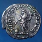 Photo numismatique  Monnaies Empire Romain Macrinus, Macrin Denarius, Denier, Denar, Denario MACRINUS, MACRIN, denarius Rome en 217 - 218, Providentiae Deorum, 18mm, 2,86 grms, RIC 80 TTB+