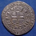 Photo numismatique  Monnaies Monnaies Royales Charles V Blanc au K CHARLES V le Sage, Blanc au K 20.04.1365, 26mm, 2,34 grms, DY.363, flan un peu court sinon beau TTB+ Patine