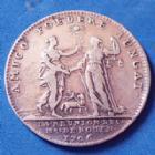 Photo numismatique  Monnaies Jetons Louis XIV, jeton, Rouen Jeton rond en argent LOUIS XIV, jeton rond en argent de 30mm, La réunion des marchands de Rouen, 1706, tranche striée, 9,86 grms,  F.6319 P.TTB