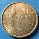 Photo numismatique  Monnaies Monnaies Françaises 4ème république 20 Francs Guiraud 20 Francs G.Guiraud 1951, Gad.85 SPL