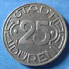 Photo numismatique  Monnaies Allemagne après 1871 Allemagne, Deutschland, Duren stadt 25 Pfennig Düren stadt, Allemagne, Deutschland, Germany, Stadt Düren 25 pfennig 1919, bergmann mit grubenlampe, Funck. 105.10 SUP