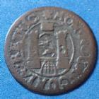 Photo numismatique  Monnaies Monnaies étrangères Suisse Chur, Switzerland Chur, Schweiz Chur Bluzger Suisse Chur, Schweiz Chur, Switzerland Chur, bluzger 1739, KM. 263, 17,5mm, 0,59 grm TB à TTB/TB+