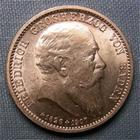 Photo numismatique  Monnaies Monnaies étrangères Allemagne Baden 2 mark, Zwei mark Allemagne BADEN (Bade) 1907, 2 Mark, Friedrich Ier, KM.278 SUPERBE