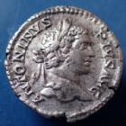 Photo numismatique  Monnaies Empire Romain CARACALLA Denarius, Denier, Denar, Denario CARACALLA, denarius Roma en 207, PONTIF TR P X COS II, 19mm, 2,74 grms, RIC 95 TTB