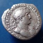 Photo numismatique  Monnaies Empire Romain Hadrianus, Hadrien, Hadrian Denarius, Denier, Denar, Denario HADRIANUS, HADRIEN, denier Rome en 119-122, PM TR P COS III, 18mm, 3,32 grms, RIC 78 P.TTB
