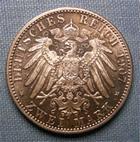 Photo numismatique  Monnaies Monnaies étrangères Allemagne Baden 2 mark, Zwei mark Allemagne BADEN (Bade) 1907, 2 Mark, KM.278 SUPERBE