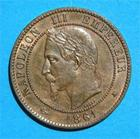 Photo numismatique  Monnaies Monnaies Fran�aises Second Empire 10 Centimes NAPOLEON III 10 centimes 1861 A G.253 SUP � FDC