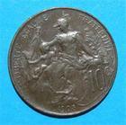 Photo numismatique  Monnaies Monnaies Françaises Troisième République 10 Centimes IIIème REPUBLIQUE Type Dupuis 1905 G.277 SUP+ Rare!!!