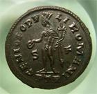 Photo numismatique  Monnaies Empire Romain DIOCLETIEN, DIOCLETIANUS, DIOCLETIAN, DIOCLETIANO Follis, folles,  DIOCLETIANUS, DIOCLETIEN, Follis frappé à Trêves, Genio populi romani, très belle monnaie avec de l'argenture!! Cohen 85 SUPERBE !!