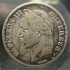 Photo numismatique  Monnaies Monnaies Françaises Second Empire 2 Francs NAPOLEON III 1869 A Paris, 2 francs tête laurée, G.527 TB