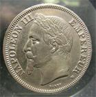 Photo numismatique  Monnaies Monnaies Françaises Second Empire 2 Francs NAPOLEON III 1868 BB Strasbourg, 2 francs tête laurée, G.527 TTB