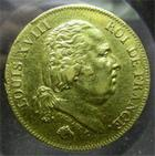 Photo numismatique  Monnaies Monnaies Fran�aises Louis XVIII 40 Francs or LOUIS XVIII, 1818 W Lille, 40 franc or, Gadoury 1092 TTB+