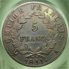 Photo numismatique  Monnaies Monnaies Françaises 1er Empire 5 Francs NAPOLEON Ier 1811 A Paris, 5 francs empire, Gadoury 584 SUPERBE