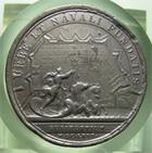 Photo numismatique  Monnaies M�dailles Louis XIV M�daille M�daille en �tain LOUIS XIV, M�daille en �tain, graveur J.MAUGER.F, 40 mm,1666, URBE ET NAVALI FUNDATIS, TTB