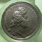 Photo numismatique  Monnaies Médailles Louis XIV Médaille Médaille en étain LOUIS XIV, Médaille en étain, graveur J.MAUGER.F, 40 mm,1666, URBE ET NAVALI FUNDATIS, TTB