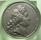 Photo numismatique  Monnaies Médailles Louis XIV Médaille Médaille en étain LOUIS XIV, 1696, Graveur J.MAUGER.F, médaille en étain 40mm NAVAL, INCES AUT CAPT HOST NAV ONER XXX BELL III AD TEXELLAM, TTB