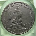 Photo numismatique  Monnaies M�dailles Louis XIV M�daille M�daille en �tain LOUIS XIV, 1678, J.MAUGER.F,M�daille en �tain 40mm, SPES ET OPES HOSTIUM FRACTAE, TTB