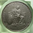 Photo numismatique  Monnaies Médailles Louis XIV Médaille Médaille en étain LOUIS XIV, 1710, J.MAUGER.F, Médaille en étain 40mm, NOVUM REGIAE STIRPIS INCREMENTUM, TTB