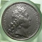 Photo numismatique  Monnaies M�dailles Louis XIV M�daille M�daille en �tain LOUIS XIV, 1710, J.MAUGER.F, M�daille en �tain 40mm, NOVUM REGIAE STIRPIS INCREMENTUM, TTB