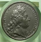 Photo numismatique  Monnaies M�dailles Louis XIV M�daille M�daille en �tain LOUIS XIV, 1697, J.MAUGER.F, M�daille en �tain 40mm, TAEDIS FELICIBUS ( Burgundiae ), TTB