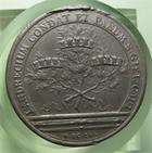 Photo numismatique  Monnaies M�dailles Louis XIV M�daille M�daille en �tain LOUIS XIV 1655, J.MAUGER.F, M�daille en �tain 40mm, LANDRECIUM CONDAT ET FANUM S GISL CAPT, TTB