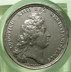 Photo numismatique  Monnaies M�dailles Louis XIV M�daille M�daille en �tain LOUIS XIV 1666, J.MAUGER.F, M�daille en �tain 40mm, COLONIA FR.STABILITA, TTB