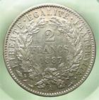 Photo numismatique  Monnaies Monnaies Françaises Troisième République 2 Francs TROISIEME REPUBLIQUE, 2 Francs type Cérès, 1887 A, Gadoury 530a TTB+