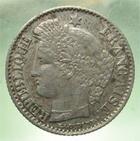Photo numismatique  Monnaies Monnaies Fran�aises Deuxi�me R�publique 20 Cmes DEUXIEME REPUBLIQUE, 20 centimes type C�r�s, 1850 A, Gadoury 303 TTB
