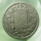 Photo numismatique  Monnaies Monnaies Françaises Charles X 1 Franc CHARLES X, 1 franc 1828 W, Lille, Gadoury 450 TB+