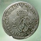 Photo numismatique  Monnaies Monnaies Royales Louis XIV Médaille 4 Sols aux 2 L LOUIS XIV, 1691 P Dijon, 4 sols aux 2 L, Gadoury 106 TB+