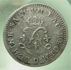 Photo numismatique  Monnaies Monnaies Royales Louis XIV Médaille 4 Sols aux 2 L LOUIS XIV 1692 D Lyon, 4 sols aux 2 L, Gadoury 106 TTB