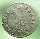 Photo numismatique  Monnaies Monnaies/medailles d'Alsace Ensisheim 3 Kreuzers ENSISHEIM, Landgraviat d'Alsace, Ferdinand 1564.1595, 3 kreuzer, EL.77 variante TTB