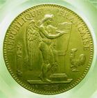 Photo numismatique  Monnaies Monnaies Françaises Troisième République 100 Francs or Troisième république, 100 Francs or type Genie, 1879 A, ancre barrée, Gadoury 1137 TTB+