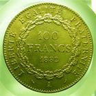 Photo numismatique  Monnaies Monnaies Françaises Troisième République 100 Francs or Troisième république, 100 Francs or type Genie, 1882 A, Gadoury 1137 TTB+