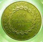 Photo numismatique  Monnaies Monnaies Françaises Troisième République 100 Francs or Troisième république, 100 Francs or type Genie, 1881 A, Gadoury 1137 TTB+