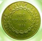 Photo numismatique  Monnaies Monnaies Fran�aises Troisi�me R�publique 100 Francs or Troisi�me r�publique, 100 Francs or type Genie, 1886 A, Gadoury 1137 TTB+