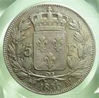 Photo numismatique  Monnaies Monnaies Françaises Charles X 5 Francs CHARLES X, 5 francs 1830 MA Marseille, Gadoury 644 TTB