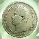 Photo numismatique  Monnaies Monnaies Fran�aises Charles X 5 Francs CHARLES X, 5 francs 1830 MA Marseille, Gadoury 644 TTB