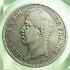 Photo numismatique  Monnaies Monnaies Fran�aises Charles X 5 Francs CHARLES X, 5 francs 1829 W Lille, Gadoury 644 TB � TTB