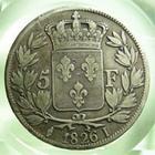Photo numismatique  Monnaies Monnaies Fran�aises Charles X 5 Francs CHARLES X, 5 francs 1826 I Limoge, Gadoury 643 TB+