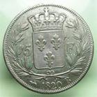 Photo numismatique  Monnaies Monnaies Françaises Louis XVIII 5 Francs LOUIS XVIII, 1820 B Rouen, 5 francs, Gadoury 614 TTB