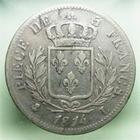 Photo numismatique  Monnaies Monnaies Françaises 1ère Restauration 5 Francs LOUIS XVIII, Première restauration, 5 francs 1814 L Bayonne, Gadoury 591 TB+