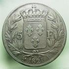 Photo numismatique  Monnaies Monnaies Fran�aises Louis XVIII 5 Francs LOUIS XVIII, 5 francs 1821 A Paris, Gadoury 614 TTB