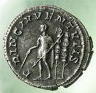 Photo numismatique  Monnaies Empire Romain MAXIME, MAXIMUS, MAXIMO Denier, denar, denario, denarius MAXIMUS, MAXIME, Denier frappé à Rome en 236.238, RIC.3 SUPERBE