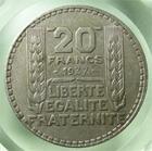 Photo numismatique  Monnaies Monnaies Françaises Troisième République 20 Francs Troisième république, 20 francs type Turin 1937, Gadoury 852 TTB